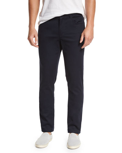 Twill Chino Pants, Black