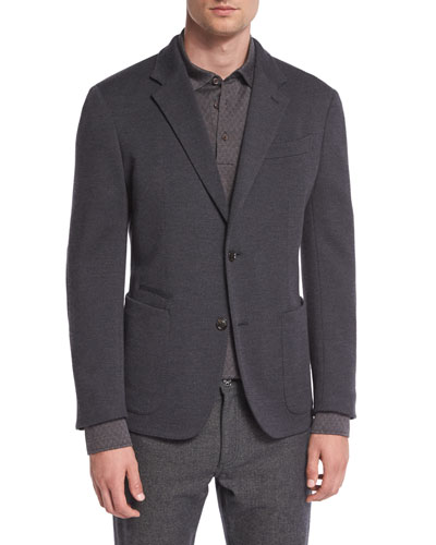 Wool Blazer, Gray