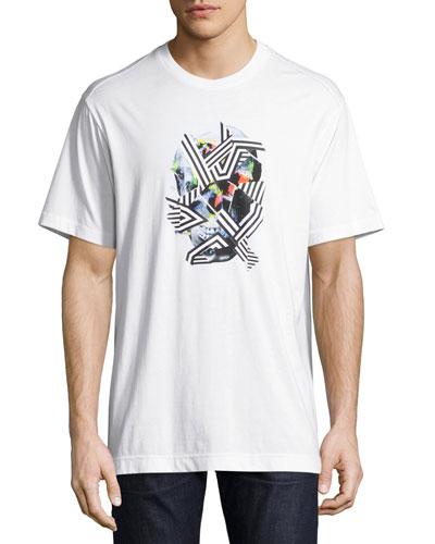 Vhann Skull Graphic T-Shirt, White