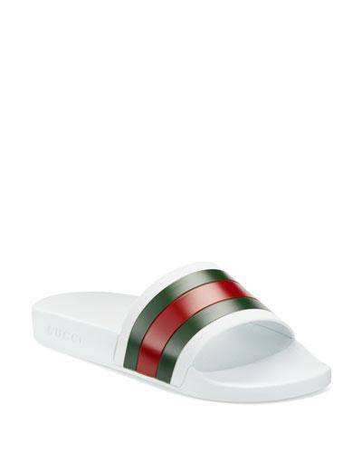 Pursuit '72 Rubber Slide Sandal, Black