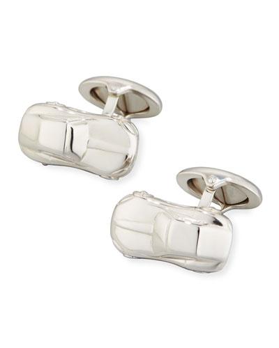 Motorites Rhodium-Plated Silver Cuff Links