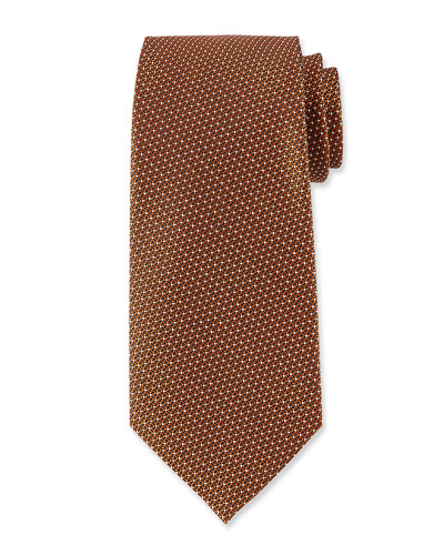 Textured Dot Silk Tie, Red