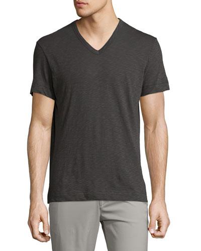 Gaskell Nebulous V-Neck T-Shirt, Dark Gray