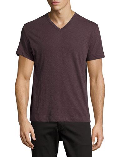Gaskell Nebulous V-Neck T-Shirt, Dark Red