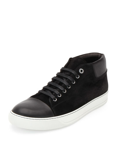 Captoe High-Top Sneaker, Black