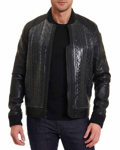 Romulus Leather Bomber Jacket
