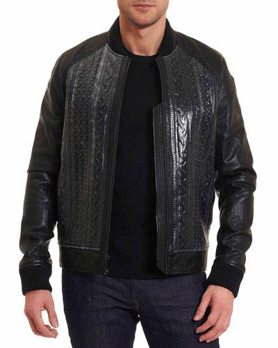 Romulus Leather Bomber Jacket