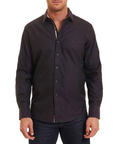 Basilio Tonal Geometric Sport Shirt