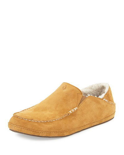 Moloa Shearling-Lined Slipper, Tan
