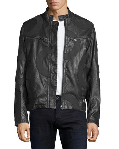 Mower Rebel Faux-Leather Moto Jacket