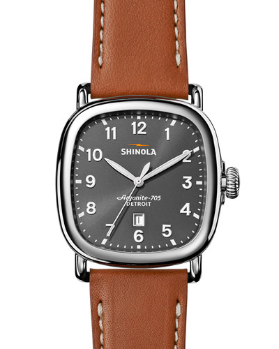 41mm Guardian Men's Watch, Tan Beaumont/Gray