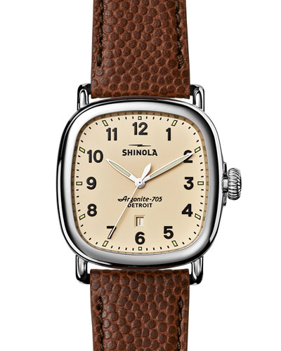 41mm Guardian Men's Watch, Brown/Cream
