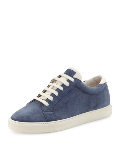 Men's Apollo Suede Sneaker, Blue