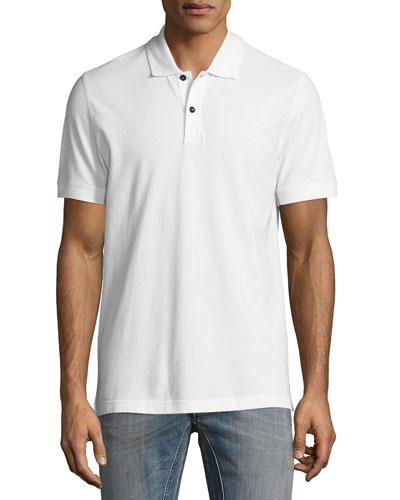 Granard Cotton Pique Polo Shirt, White