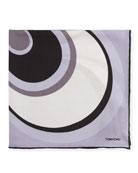 Circle Swirl Pocket Square, Lavender