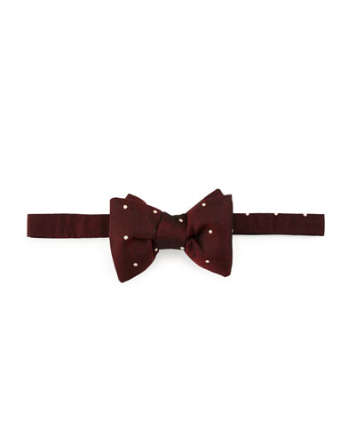 Small Dot Bow Tie, Red