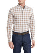 Check Plaid Sport Shirt, Brown