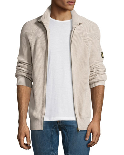 Parkgate Core Full-Zip Sweater, Light Gray