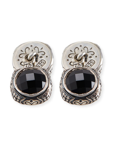 Sterling Silver & Onyx Cuff Links