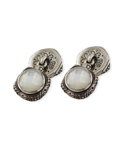 Aeolus Mother-of-Pearl & Sterling Silver Cuff Links