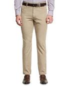 Five-Pocket Chino Pants, Medium Beige