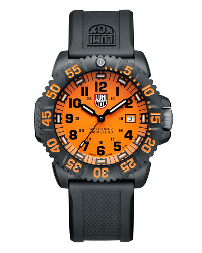 44mm Navy SEAL 3050 Series Colormark Watch, Orange