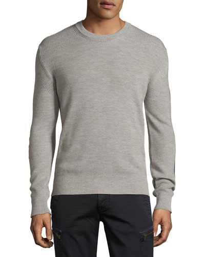 Malwood Sweater w/Elbow Patches, Gray