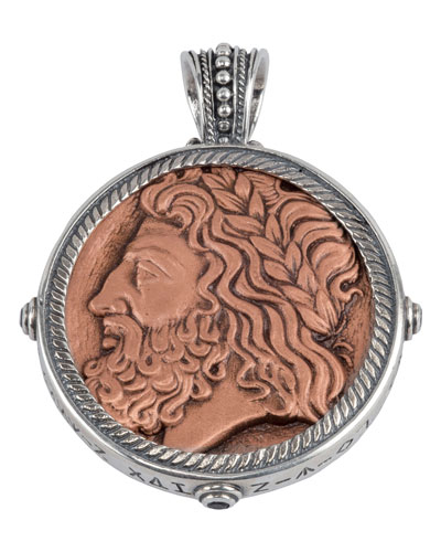 Men's Sterling Silver & Copper Zeus Pendant w/Spinel Insets