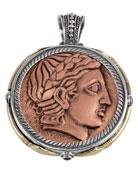 Men's Aeolus Two-Sided Apollo Pendant w/Spinel