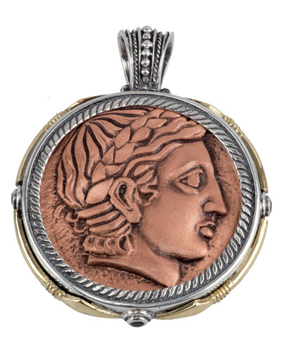 Men's Aeolus Two-Sided Apollo Pendant w/Spinel