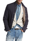Nylon Sport Jacket, Navy