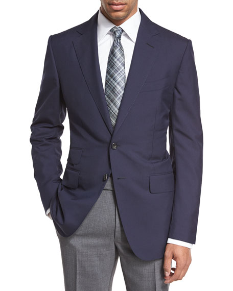 TOM FORD O'Connor Base Plainweave Sport Coat, Navy