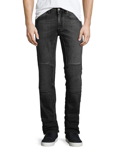 Blackrod Moto-Style Slim-Fit Jeans, Blue