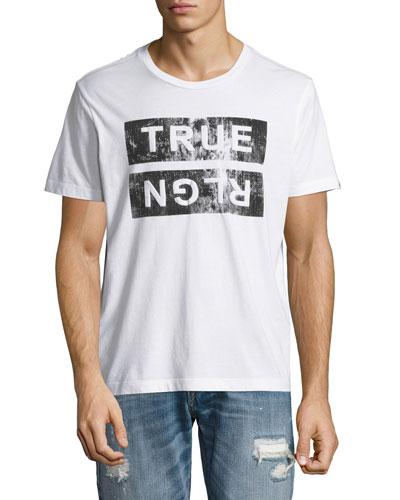 Distressed Logo T-Shirt, White