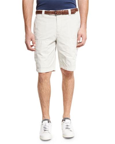 Cotton Cargo Shorts, Neutral
