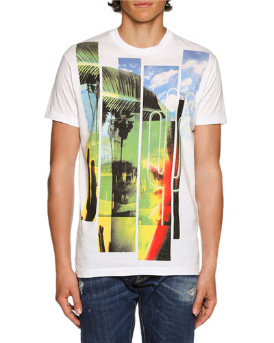 American Road Trip Graphic T-Shirt, White