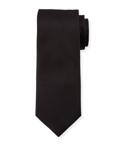 Solid Textured Tie, Black