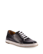 Playtime Perforated Leather Sneaker, Dark Gray