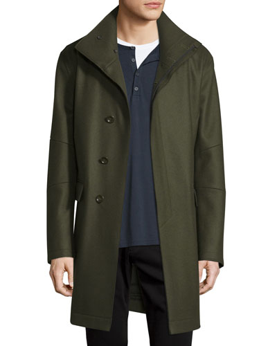 Raw-Edge Military Coat