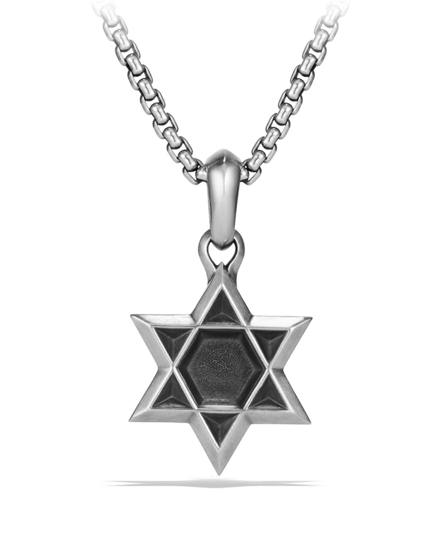Men's 23mm Sterling Silver Star of David Amulet