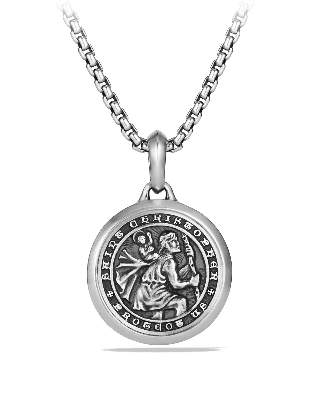 Men's 26.5mm Sterling Silver St. Christopher Amulet