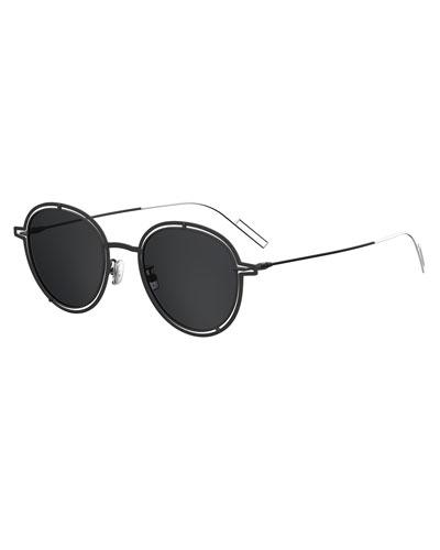 Round Open-Work Metal Sunglasses