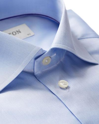 Twill Slim-Fit Dress Shirt