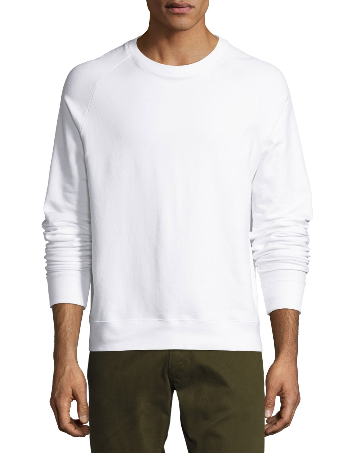 Pima Cotton Sweatshirt, White
