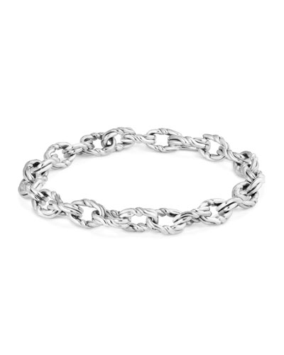 Men's 8mm Sterling Silver Continuance Chain Bracelet