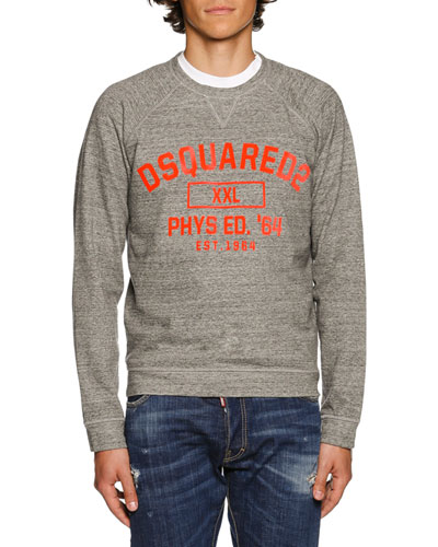 Heather Varsity Sweatshirt, Dark Gray