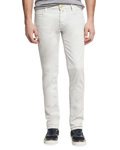 Slim-Straight Soft Stretch Jeans, White