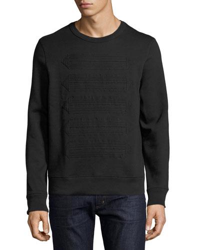 Atley Regimental-Tape Sweatshirt, Black