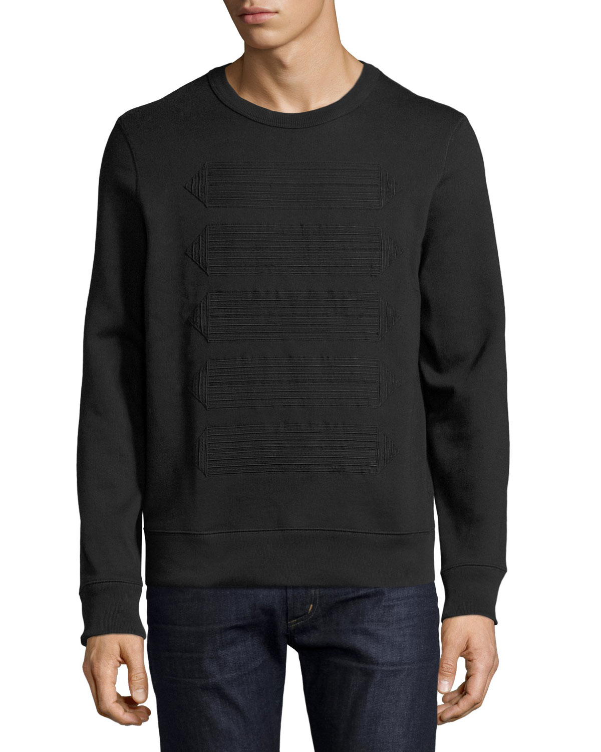 Atley Regimental-Tape Sweatshirt, Black