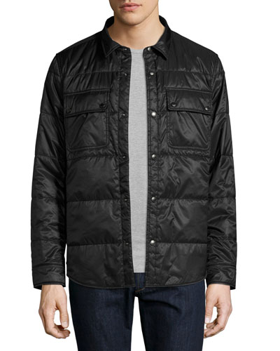 Harkstead Quilted Technical Shirt Jacket, Black